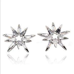 Fashion picks crystal silver earrings